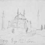 Босфор 3 декабря 1921 г. Рисунок из дневников М.Васнецова
