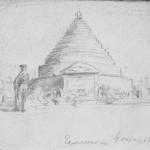 Галлиполи 4 декабря 1921 г. Рисунок из дневников
