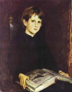 Портрет Михаила Васнецова 1892 г. (на тот момент ему было 8 лет)